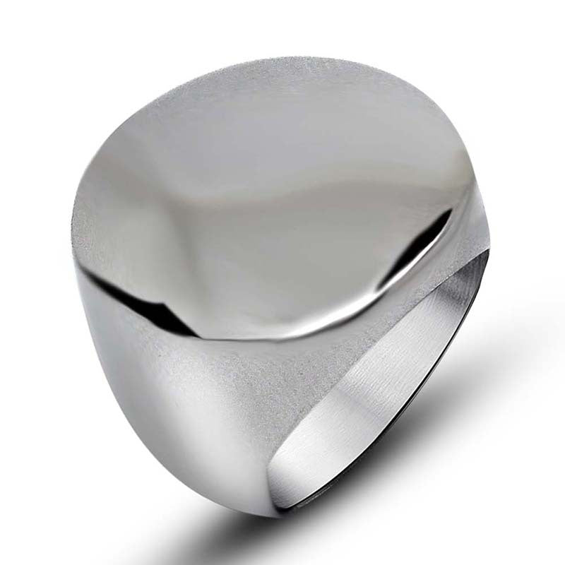 Fashion simple smooth round head man hot style titanium steel jewelry ring personality trend SA156