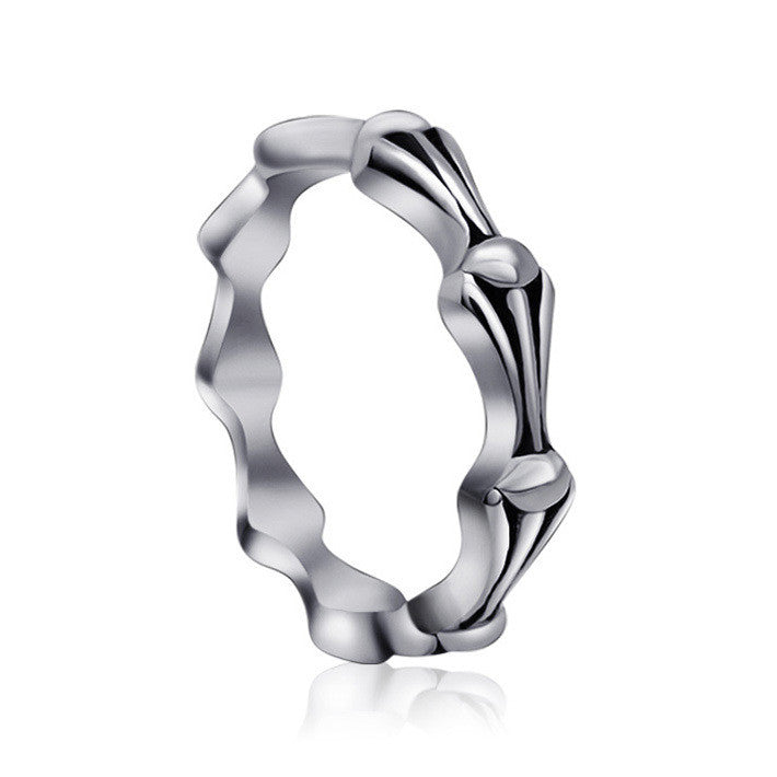 Fetro fashion wind wave pattern of single ring for women SA354
