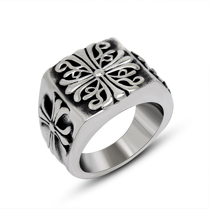 Fine solid geometry Palace Flower Ring for man and women SA379 ...