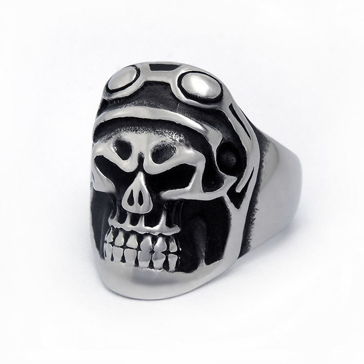 Funny hideous domineering personality skull ring SA575