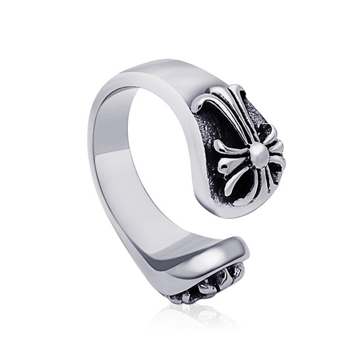HOT Unique retro punk ring opening domineering personality titanium steel jewelry SA339