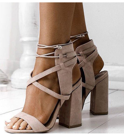 Plus Sexy High Heels Sandals Gladiator Open Toe Women Summer Shoes