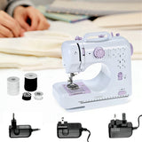 12 Stitch Electric Sewing Machine Mini Portable 2 Speed w/ Foot Pedal Goplus