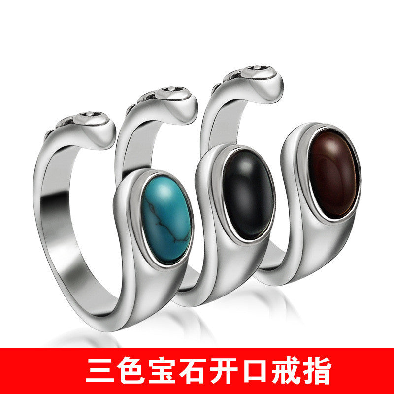 Half ring shaped blue black brown three colors to choose from SA364