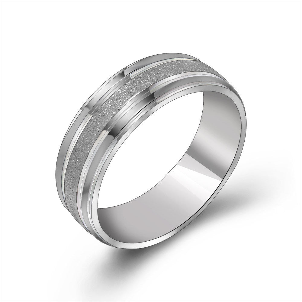 Happy Sun warm fashion ring Simple titanium steel jewelry Warm male essential single ring SA615