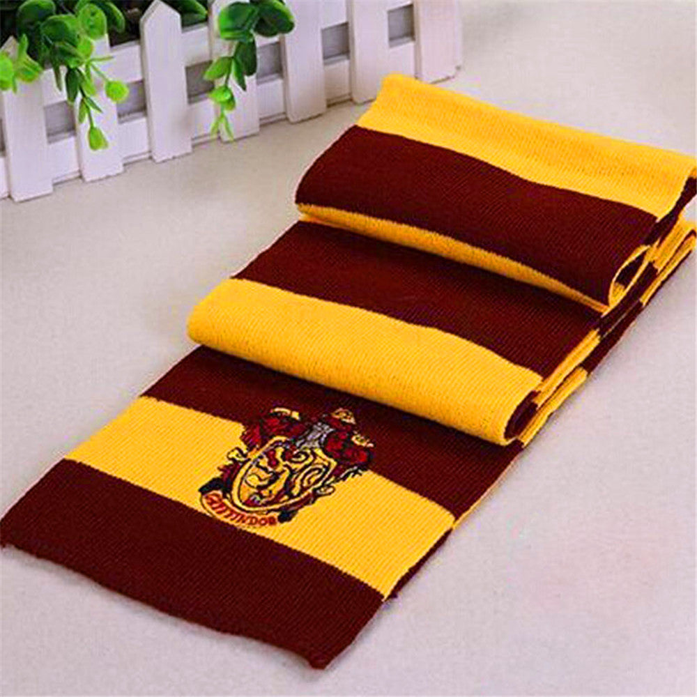 Harry Potter Scarf Scarves Gryffindor Hufflepuff Slytherin Knit ...