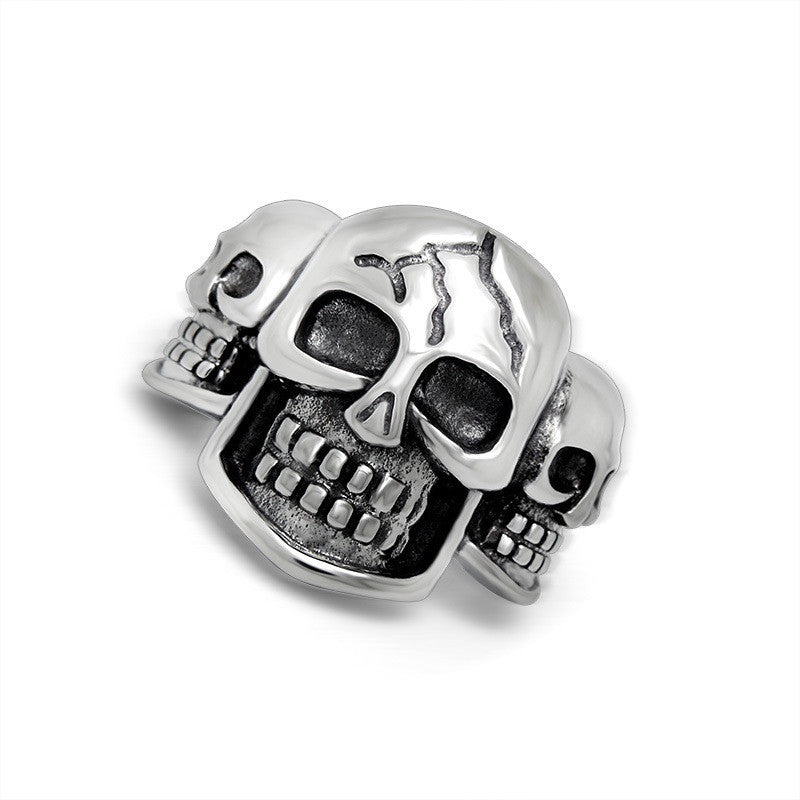High quality punk man personality titanium steel Skull Ring man boy fine jewerly SA564