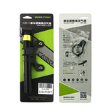 BaseCamp BC-752 Portable Aluminum Alloy Pump Ultra-light Mountain Bicycle Inflator - Black + Green