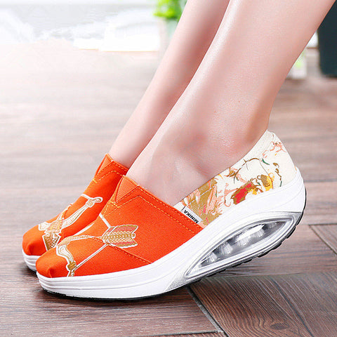 British style Spring autumn Women wedge shoes High platform Female casual shoes Slip on lazy shoes zapatos