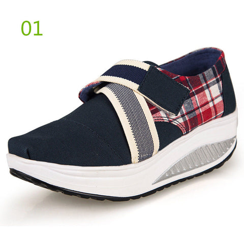 High platform Wedge shoes top quality canvas shoes Women casual shoes Fashion zapatos