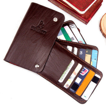 Credit Card Pack Bus Cards Bank ID Holders Genuine Leather Wallet Business Package Cover Case