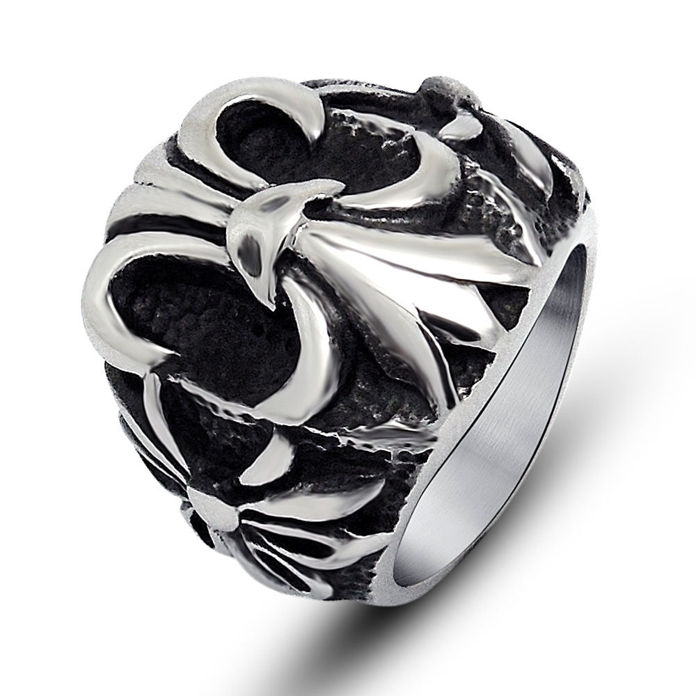 Retro personality Anchor swagger titanium steel jewelry ring SA513