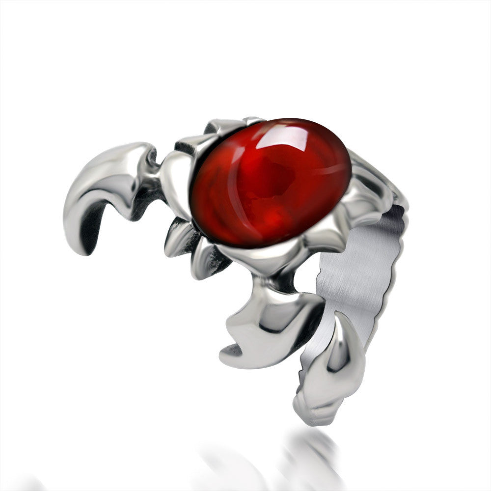 Scorpion shaped ruby ring cute type ball essential goods SA426