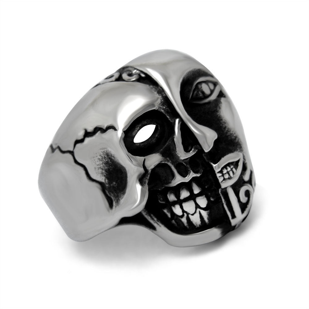 Shock your perspective sided skull ring for man SA618