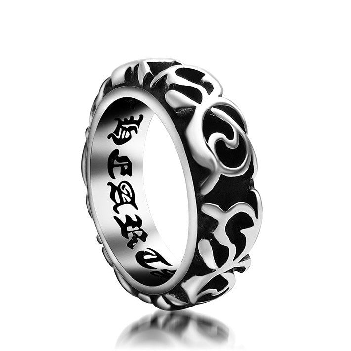 Super Cool Retro Vintage Jewelry Stainless Titanium Steel Men s Ring Designer Punk Rock Party Accessories