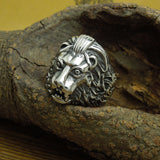 Super cool domineering personality lion head ring Titanium steel jewelry SA515