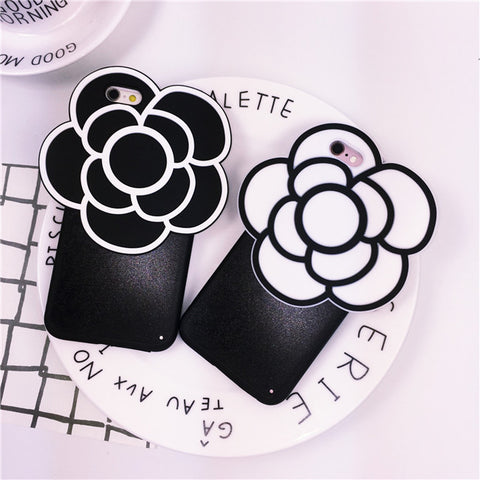 Fashion soft silicone New Apple iPhone cases camellia/lip with free rope