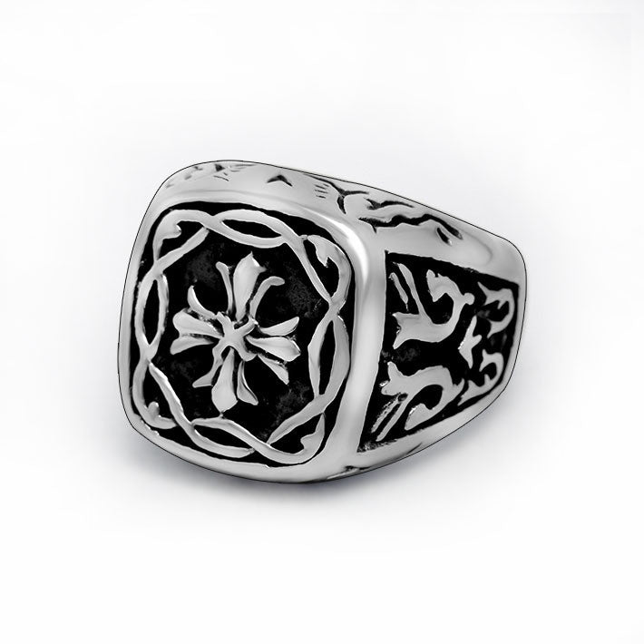 Thai style retro Metrosexual cross ring essential male God choose SA460