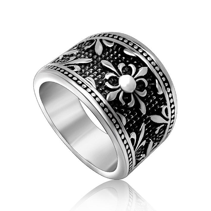 The bustling wide ring ball with retro design essentials jewelry SA376