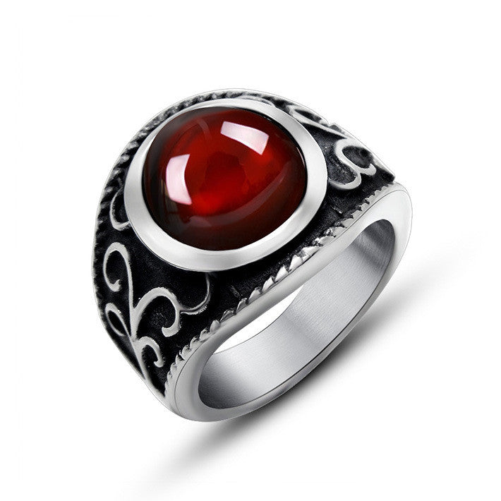 The elegant Royal magic stone ring of red pomegranate SA704