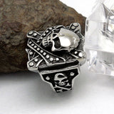 The general skull ring personality trend of titanium steel jewelry SA468