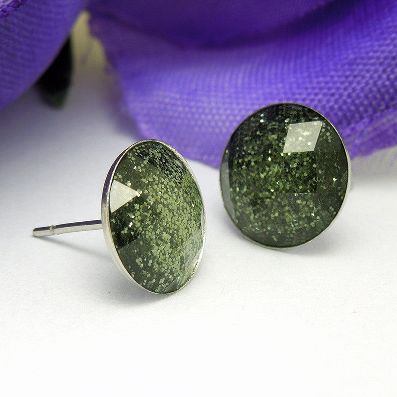 The luxurious and elegant retro gem Earrings Green temptation The wholesale price CF072