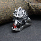 The new personality skulls Ruby titanium steel ring Iron Man warrior tide male jewelry SA504