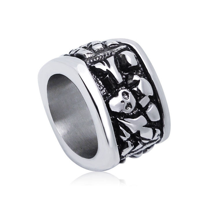 Trend of retro cool plate embossed Skull Ring for man SA150
