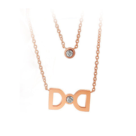 Wild fashion titanium steel rose gold necklace including chain SP266