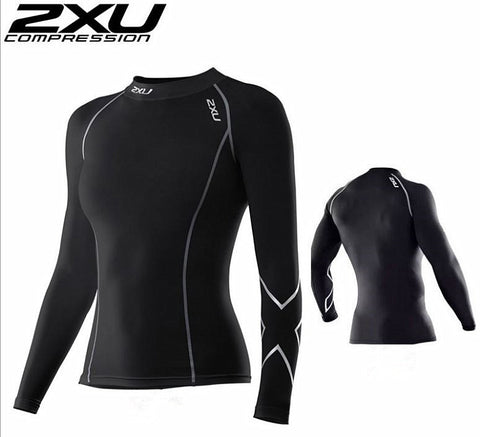 2XU compression unisex top elastic fitness tight  sleeve quick-drying