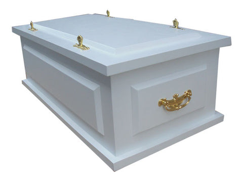 Elegant Eco-friendly Child/Pet Caskets-Snow White (Stock In US)