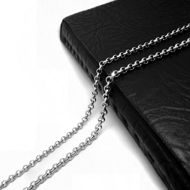 "3.5/4.5MM 18-36"" High Quality 316L Silver Stainless Steel Linked  Chain Accessories CE482"