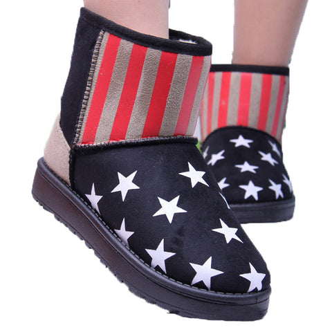 New fashion Star flag winter boots