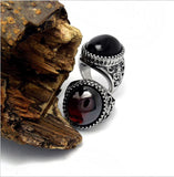 Animal relief restoring ancient ways agate domineering ring SA716