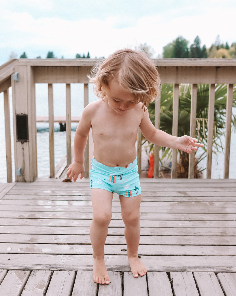 Blue Surf Swimmer Shorts