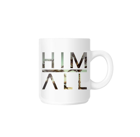 California Palm Mug , MUGS - HIM ABOVE ALL, HIM ABOVE ALL