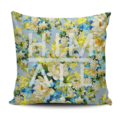 Blue Flower Pattern Pillow , PILLOW - HIM ABOVE ALL, HIM ABOVE ALL