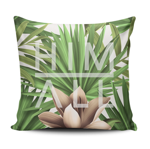 Leaf Pattern Pillow , PILLOW - HIM ABOVE ALL, HIM ABOVE ALL