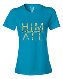 Blue Flower - Women , SHIRTS - HIM ABOVE ALL, HIM ABOVE ALL  - 3