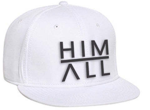 White Snapback , SNAPBACK - HIM ABOVE ALL, HIM ABOVE ALL