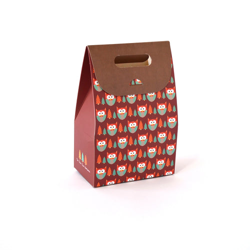 Owl Box Bag Red