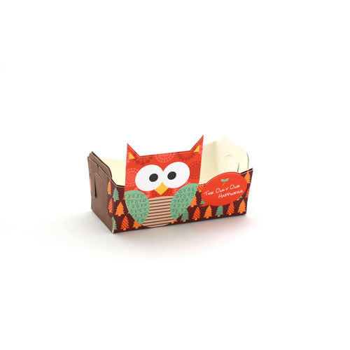 Owl Cookie Tray Red