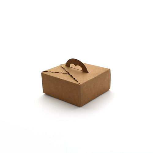 Cake Box w/ Handle Short Kraft