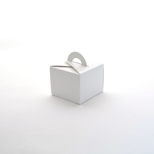 Cake Box w/ Handle Tall White