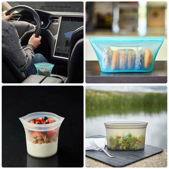 Stand-up Reusable Silicone Food Storage 8pcs