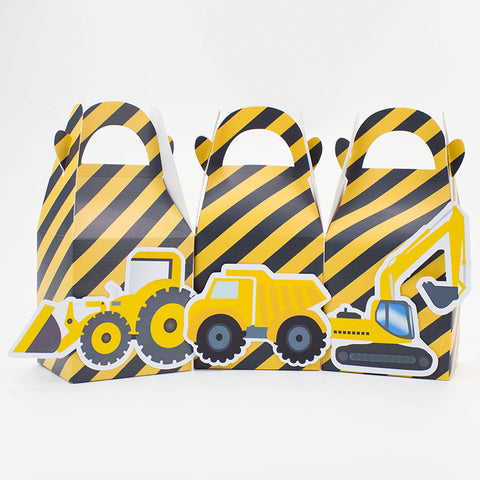 Yellow/Grey Pattern Candy Party Favor Box