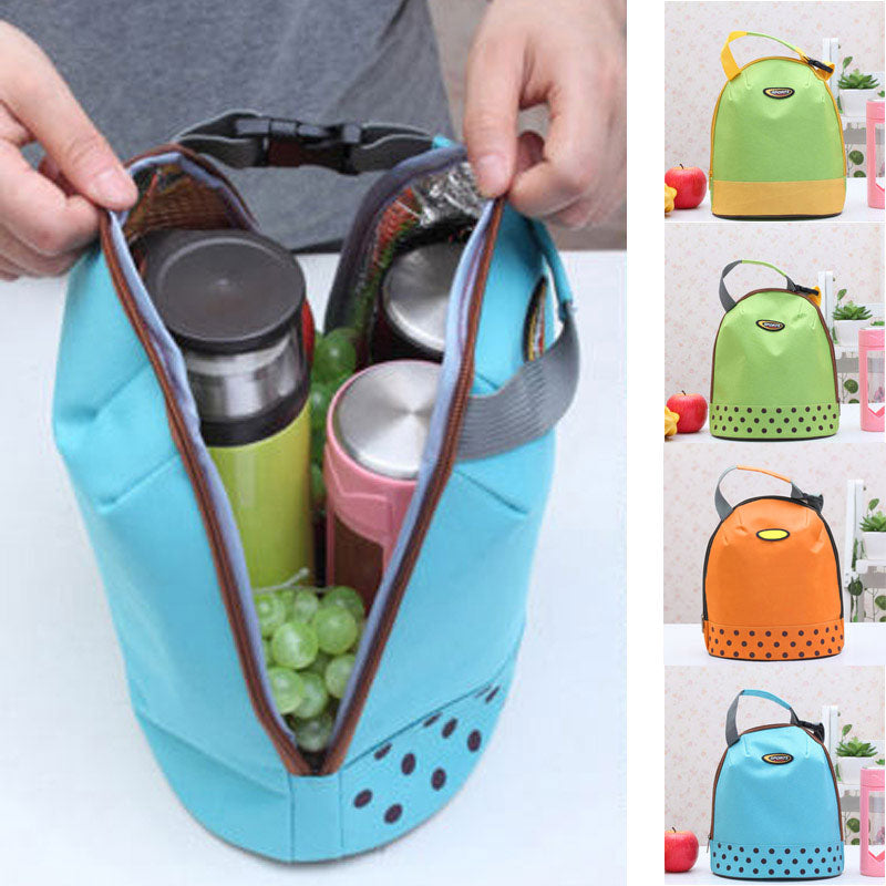 Portable Cooler Lunch Tote Insulated Canvas