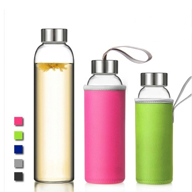 Sporty Spice Style - Tall Glass Water Bottle 280ml
