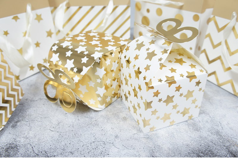 Gold Butterfly Top Cake Gift Pastry Box 12ct