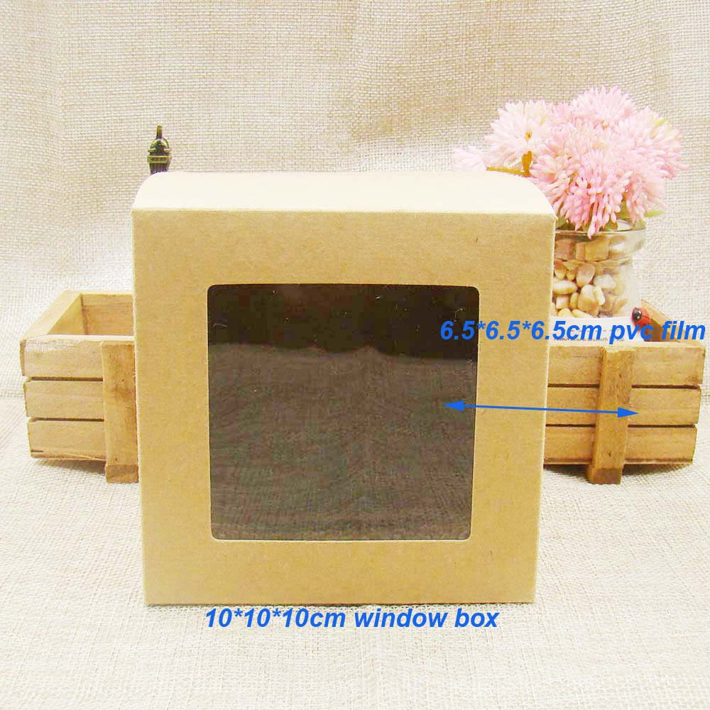 "4"" Paperboard Box w/ Clear PVC Window"